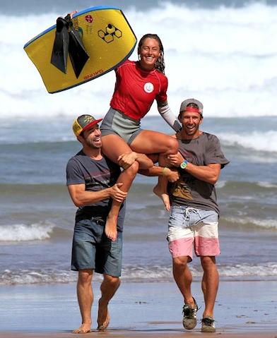 Joana Schenker wins Casablanca Bodyboard Pro