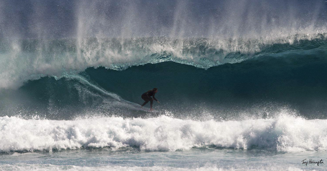 Bronte Macaulay surfs Gnaraloo Photo: Tony Harrington
