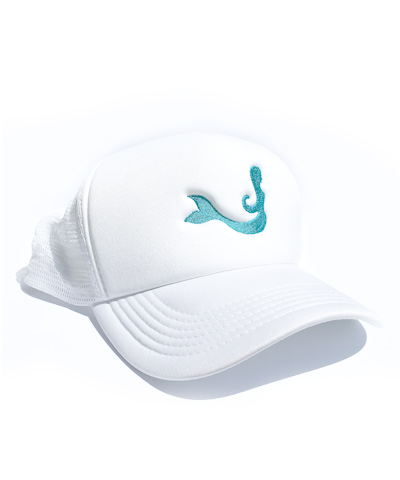 White Mermaid Hat For Surfing