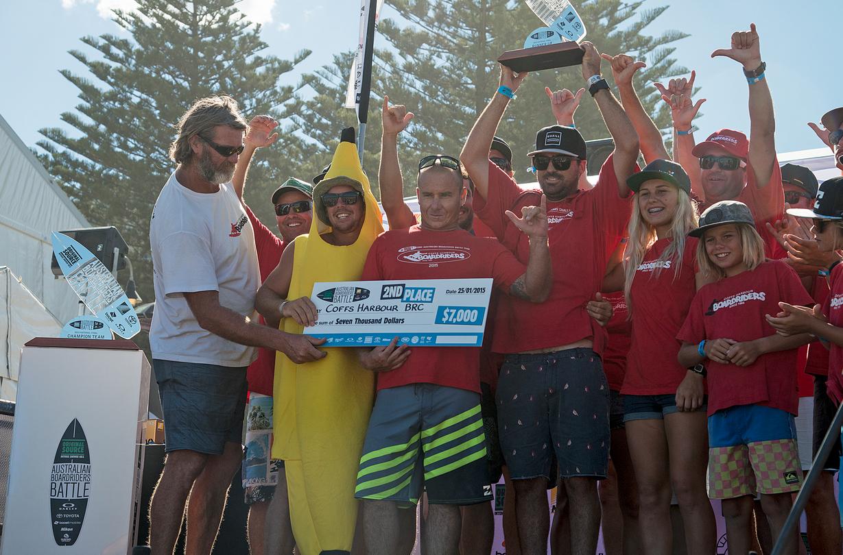 Coffs Harbour Boardriders Boardriders Battle teams challenge winners  Photo: WSL/Will H-S