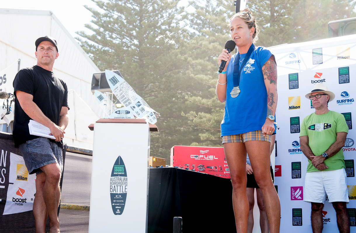 Stacey Holt, Point Lookout wins Layne Beachley Medal Photo:  ASP/Robertson