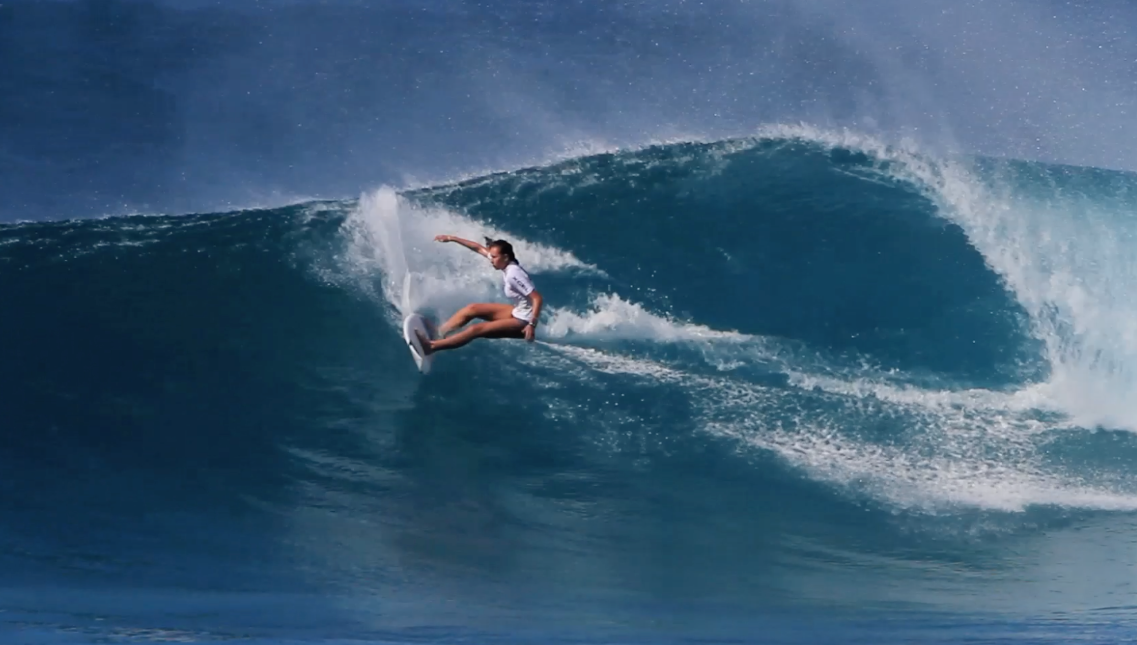 Honolua Bloomfield makes a smooth transition at Sunset Junior Pro