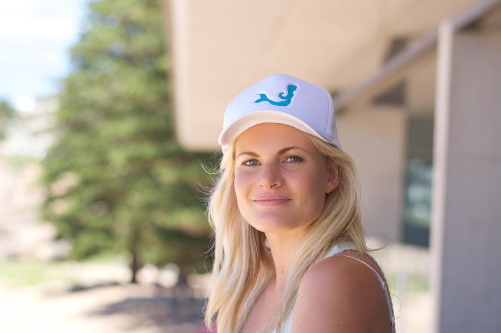 Bonnie Sveen Wearing Mermaid Society Hat