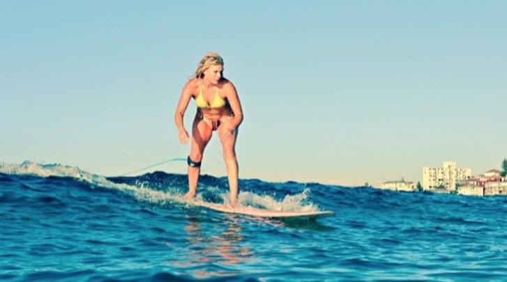 Bonnie Sveen Surfing