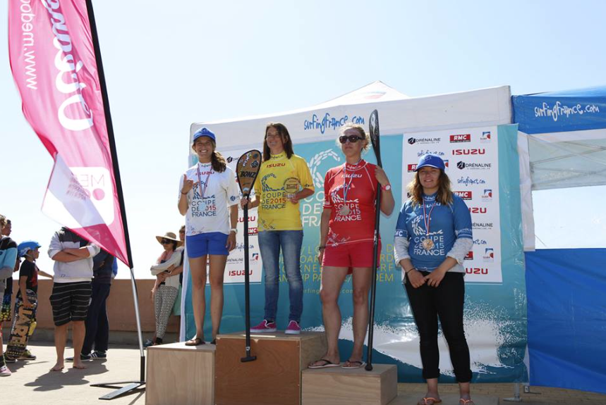 SUP finalists on the podium