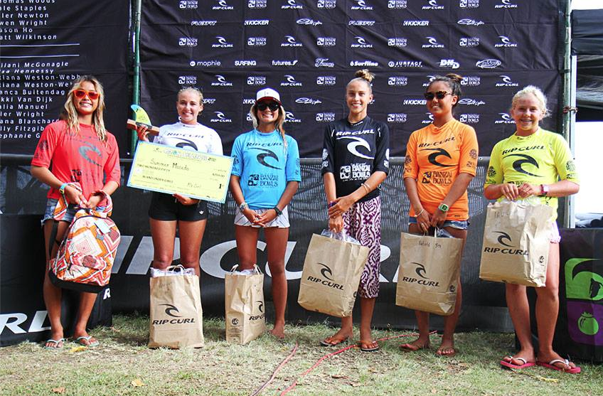 Finalists of 2015 Rip Curl Grom Search Hawaii photo by Rip Curl