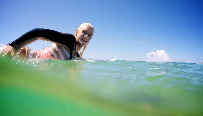 Tatiana at the Hurley Australian Open of Surf 2015 by The Mermaid Society