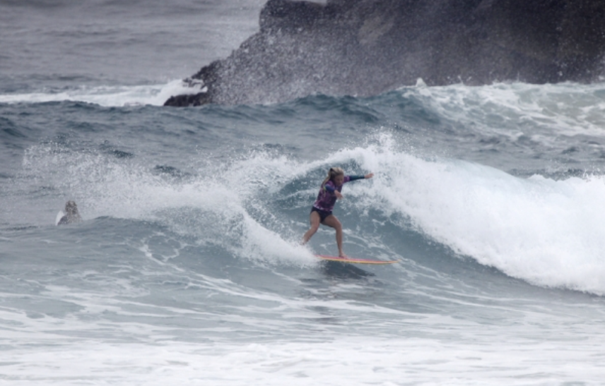 Piper Harrison on her way to the finals, photo by Surfing Queensland