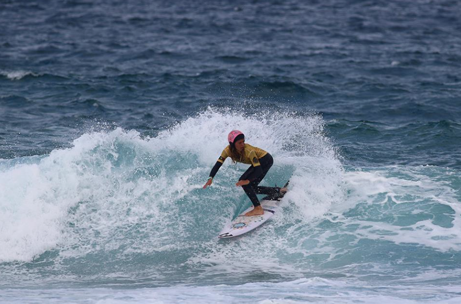 Zahli Kelly in the 14 girls, photo by Surfing NSW