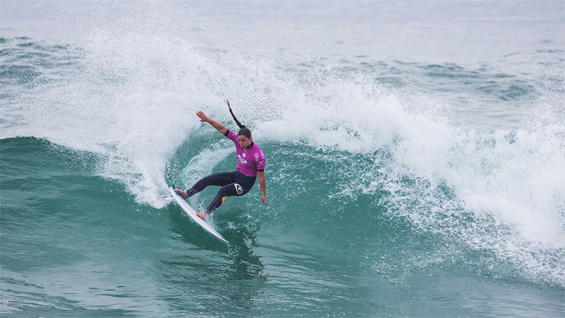 On the rail, Photo by Poullenot / WSL