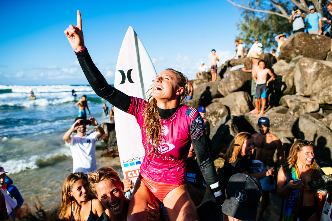 Lakey Peterson. Photo by WSL/Sloane