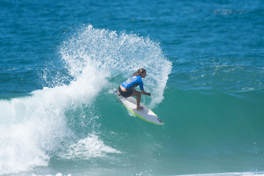 Sarah Baum takes out the Vissla Central Coast Pro presented by Slimes Surf, Photo by Ethan Smith / Surfing NSW